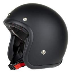 Casco de moto jet con remaches Pendejo by iguana custom collection negro mate (XL)