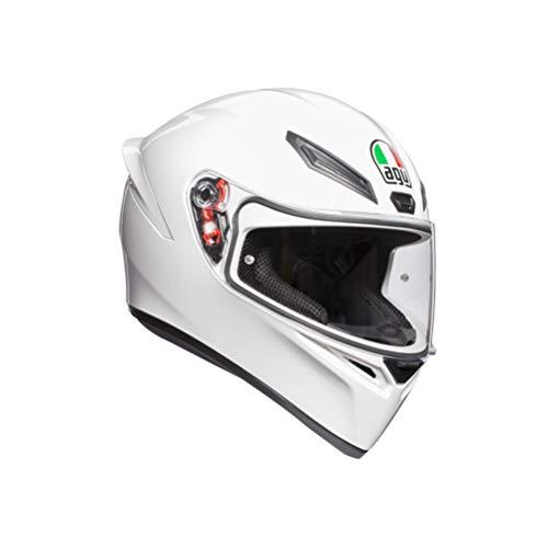 AGV 0281A4I0_001_ML K1 Solid Casco Moto Integral, Blanco, ML