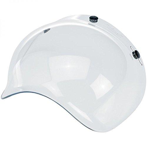 Visera universal tipo burbuja para cascos de moto abiertos con 3 broches, diseño retro