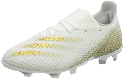 adidas X GHOSTED.3 FG J, Zapatillas de fútbol, FTWBLA/OROMEZ/Gridos, 37 1/3 EU