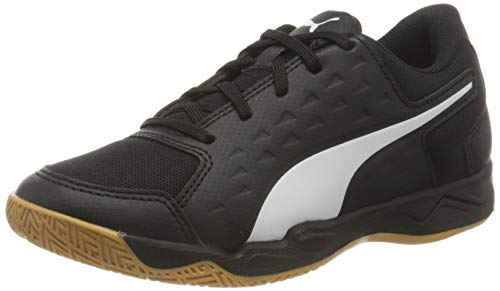 PUMA Auriz Jr, Zapatillas de Fútbol, Negro Black White/Gum, 37 EU