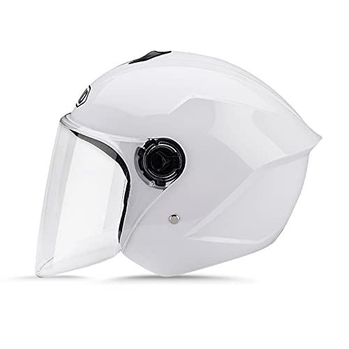 Los materiales se seleccionan cuidadosamente: el cuerpo del casco está hecho de plásticos de ingeniería ABS de alta calidad, que es resistente a la corrosión y tiene una mayor resistencia. El casco está diseñado ergonómicamente para mejorar la comodidad de uso. La capa amortiguadora está hecha de material EPS de alta densidad para lograr una mejor resistencia al impacto y una mayor resistencia a la compresión. Cómodo y transpirable: el forro interior es suave y cálido, se adapta a la cabeza, tiene buena permeabilidad al aire, reduce la formación de bacterias y no es fácil de sudar. Correa de barbilla elástica ajustable, mantenga el casco firmemente en la cabeza mientras mantiene la comodidad. El casco utiliza un diseño de ventilación circulante y la ventilación superior está equipada con un interruptor, que se puede ajustar para garantizar que el aire en el casco sea fresco y no caliente. Más claro y seguro: la circunferencia de la cabeza del casco es de 50 a 64 cm (19,68 a 25,2 pulgadas). La visera está hecha de material de pc resistente al desgaste, que tiene alta resistencia y alta tenacidad, y es antivaho, evitando que la niebla afecte el campo de visión, cubriendo la cara y a prueba de viento, alta definición más resistente al desgaste, suave y no cortarse las manos. Ámbito de aplicación: adultos, adolescentes, hombres, mujeres Motocicletas, ciclomotores, motocicletas, scooters, monopatines, bicicletas, cascos de turismo, ciclomotores. El casco ha sido sometido a pruebas de choque, cumple con los requisitos de las normas de tráfico y puede amortiguar eficazmente las fuerzas externas. Servicio y garantía líderes en la industria * - cualquier producto que compre está cubierto por nuestra garantía de 3 años líder en la industria y soporte continuo. Si tiene alguna pregunta, comuníquese con nosotros a tiempo y le responderemos dentro de las 24 horas. Si está satisfecho con mis productos y servicios, espero que pueda darnos una calificación y comentarios positivos. 