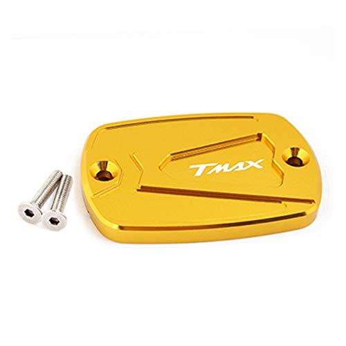 Accesorios de motocicleta Cubierta de depósito de líquido de frenos de aluminio/ajuste para Yamaha/T-max Tmax 500 530 T Max530 DX SX 2018 (color: dorado)