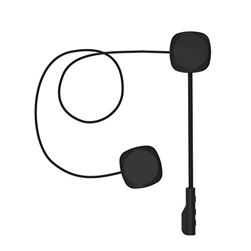 3T6B Bluetooth 5.0 Auriculares de Cascos de Motocicleta, inalambrica Manos Libres Moto Casco Auricular, Altavoces musica, Mic Control de Llamadas, Anti-interferencia Auriculares