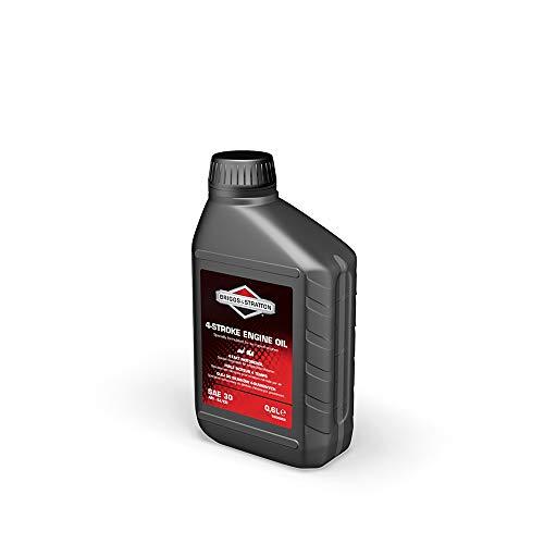 Aceite mineral de alta calidad original de Briggs & Stratton para motores de 4 tiempos SAE30. Adecuado para todos los motores de cortacésped de 4 tiempos. También es adecuado para su uso en motores de equipos eléctricos de exterior de 4 tiempos refrigerados por aire que funcionan a temperaturas exteriores que oscilan entre 4 °C y 38 °C. Disponible en varios tamaños de botella para que coincida con la capacidad de aceite de su motor. API: Aceites de grado SJ/CD.