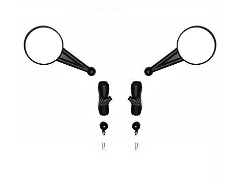 """los espejos ofertas enduro una gran mezcla de la función cuando está extendido y perfil bajo cuando se pliega de distancia. dot spec vidrio, carcasa irrompible. incluye dos espejos enduro, dos 3"""" brazos ram, dos bases de la rótula (10 x 1,25 mm de rosca), dos adaptadores de extensión (10 x 1,25 mm), dos adaptadores German (10 x 1,5 mm), y un adaptador de reverse-thread ( 10 mm x 1,25). Generalmente se adapta a todos los años, todos los modelos 2005+. Se requieren adaptadores adicionales para Beemers anteriores a 2005 y Scrambler 1200 actual de 2019. Consulte el sitio web de Doubletake para conocer el ajuste."""