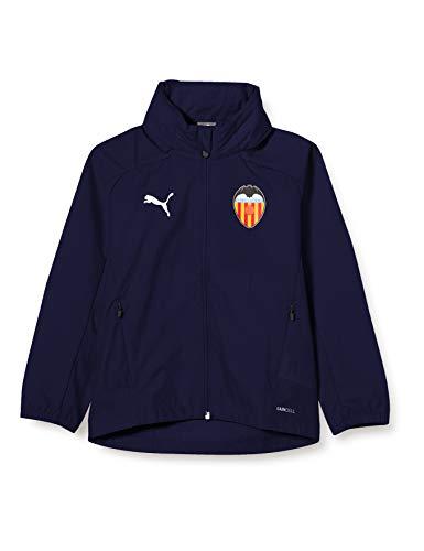 PUMA Valencia CF Temporada 2020/21-Rain Jacket Jr Peacoat Chaqueta, Niño, 164