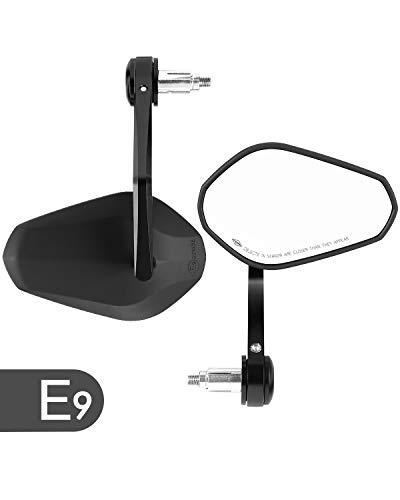 【Universal Adecuado】- Espejo universal manillar retrovisor de motocicleta es compatible para z900, XSR700 etc.(Si el modelo es mt09 o mt07, por favor pongase en contacto con nosotros, tiene que usar tornillo de M6, pero los de este espejo son de M8) 【Real E-9 Homologado 】- Este espejo manillar moto tiene una certificación E-mark. Se puede ofrecer certificado de PDF. Él le ofrece una alta definición y una visión más amplia, fácil de ver las próximas y los obstáculos. 【Rotación de 360 grados】- Espejo retrovisor de motocicleta con base giratoria de 360 grados y se puede ajustar en cualquier dirección para ayudarlo a mirar en cualquier dirección de su espalda. 【Moderno diseño】- Este espejo de manillar tiene una forma muy bonita y moderna, ha sido diseñado y probado para proporcionar a los usuarios más exigentes lo último en rendimiento y facilidad de uso. Con una apariencia excepcional con una estructura robusta son resistentes a los golpes y la corrosión y se adaptan perfectamente a su motocicleta. 【ISSYZONE】- Por cualquier motivo, si no está satisfecho con su compra, contáctenos directamente. Por favor, compruebe el modelo y el tamaño antes de comprar.