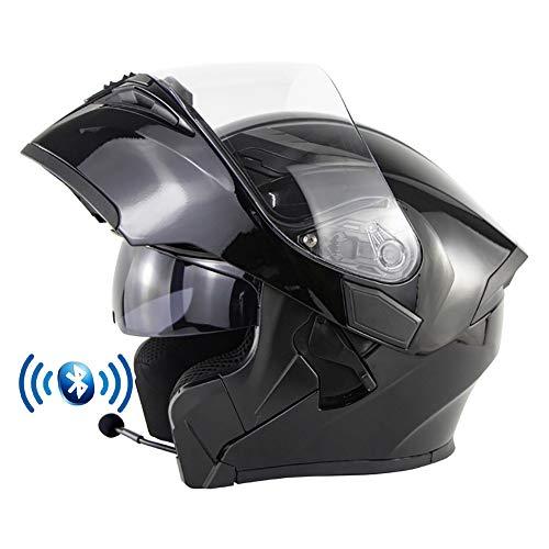★ [AURICULARES BLUETOOTH INTEGRADOS] El casco de moto con auricular bluetooth se puede emparejar con el teléfono móvil. Escuche música Responda automáticamente llamadas, radio FM, etc., fácil de instalar, estéreo de alta calidad que le permite cambiar sin problemas entre llamadas y música mientras conduce. ★ [MATERIALES DE ALTA CALIDAD] El casco de la motocicleta tiene una carcasa de ABS erodinámico, EPS de densidad múltiple, correa de barbilla ajustable, mantiene el casco limpio, fresco e inodoro. Diseño de doble visor antivaho, la lente interior puede prevenir los rayos ultravioleta. Se puede encender y apagar con el interruptor de lente interior. ★ [FORRO DESMONTABLE Y LAVABLE] El forro del casco modular se puede desmontar y limpiar, es fácil de desmontar, fácil de limpiar, sin deformaciones, ventilado y seco, transpirable y absorbente de sudor. ★ [VENTILACIÓN AJUSTABLE] Varios orificios de seguridad en la parte superior y trasera pueden cortar la circulación de aire en el casco cuando no es necesario. El diseño del casco abatible también puede darle a su conducción dos estilos de vida. ★ [SERVICIO Y GARANTÍA] DYOYO es totalmente responsable de todos los productos DYOYO, si tiene algún motivo para nuestro producto en cualquier momento, comuníquese con nuestro equipo DYOYO de inmediato y lo haremos de manera correcta e inmediata.