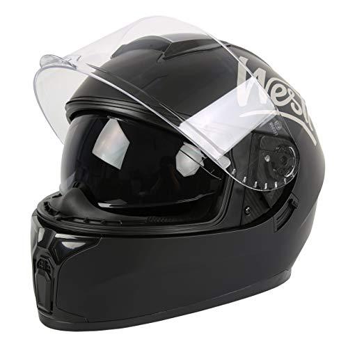 Westt Storm X - Casco de Moto Integral - Certificado ECE (Negro, M (57-58cm))
