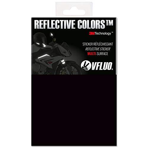 A cortar y hacer sus propios diseños, universal pegatina para todas las superficies rígidas : casco de moto, moto, maletas, bicicleta, juguetes, cochecitos… Hermosa y discreta por la luz del día y efectiva en la oscuridad o cuando llueve / Especialmente adaptado a los cascos de motocicleta (visibilidad y cumplimiento de la ley francés) Refleja la luz en su color en la oscuridad ; salvo el negro que refleja en blanco Fácil a cortar y pegar / larga durabilidad : 8 años 3M Technology™ : el mejor y más potente material retro reflectante de color