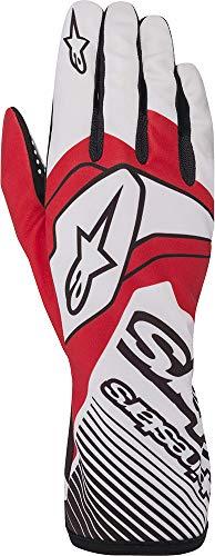 Alpinestars Tech-1 K Race v2 - Guantes de karting para hombre, color blanco/rojo, XL