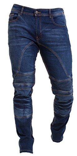 Qaswa HombreMotocicleta Pantalones Moto Jeans con Proteccion Aramida Motorcycle Biker Pants