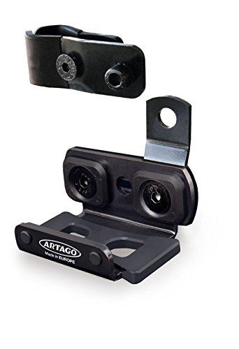 Artago K402 Soporte 30X14 y 30X10 para Fijar a Tubos o Tornillos, Universal, Negro, 30 x 14 y 30 x 10