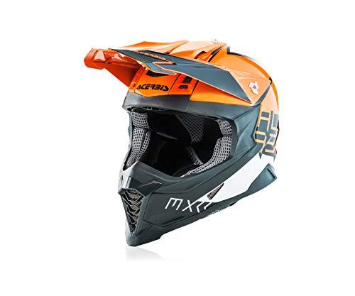Calota fabricada en fibra de vidrio Diseño revisado que garantiza una gran protección y equilibrio del casco en la cabeza Nuevos interiores Soft Touch de alta evacuación de la humedad