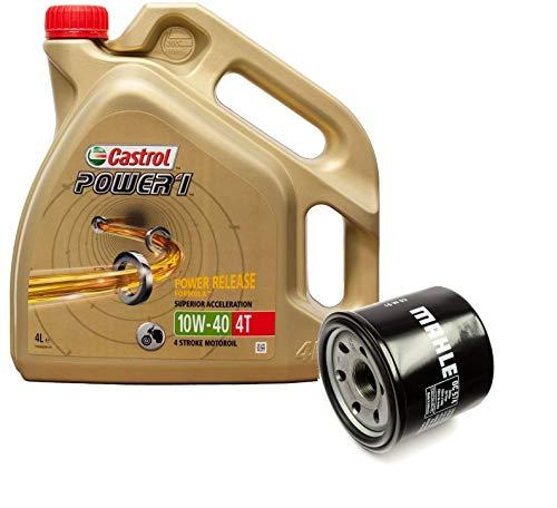 Castrol Kit Duo Power 1 Aceite de Motores 10W-40 4T 4L + Filtro Mahle OC574