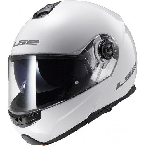 LS2 503251002L FF325 Casco Strobe Solid, Color Blanco, Tamano L