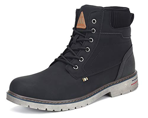 Mishansha Clásicas Botas Hombre Moto Impermeable Trekking Zapatos Negro 44