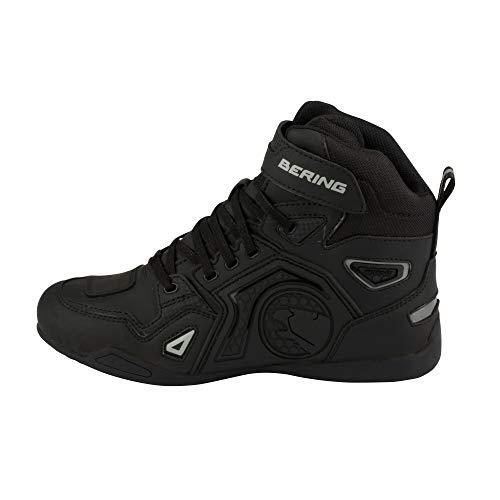 Bering Horace - Botas para moto, color negro y gris