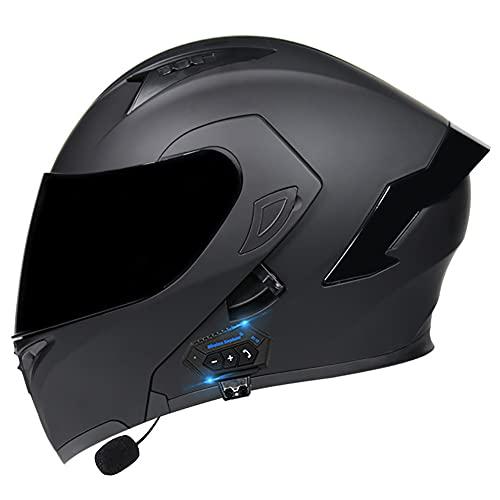 [AURICULARES BLUETOOTH MULTIFUNCIONALES] El casco de motocicleta con auricular Bluetooth se puede emparejar con un teléfono móvil. Escuche música, responda automáticamente llamadas y otro contenido, fácil de instalar, sistema estéreo de alta calidad, carga USB portátil, 2.5 horas de carga, 400 horas modo de espera, para que pueda cambiar sin problemas entre llamadas y música mientras conduce. [SISTEMA DE VENTILACIÓN] El casco abatible tiene forro extraíble y lavable, forro de presión 3D de alta calidad, suave al tacto, transpirable y cómodo, forro de malla, efectos desodorantes y antitranspirantes. Las viseras antivaho pueden brindarle una visión clara .Te daremos un par de guantes. [AERODINÁMICA] El casco abatible equilibra la entrada de aire frontal, aspira el flujo de aire antes y después de la ventilación de extracción de presión negativa, hace que los usuarios se sientan cómodos y secos. Cuando el casco está cerrado, el diseño cerrado puede reducir el impacto del ruido del viento en usted mientras conduce. [CASCO DE MOTOCICLETA PROFESIONAL] El casco de moto cumple con el estándar ECER 22.05. Necesita bicicletas de calle, autos de carrera, cruceros, scooters, motocicletas bicicletas scooters karting ATV rally racing esquí alpino, etc. [SERVICIO Y GARANTÍA] DYOYO es totalmente responsable de todos los productos DYOYO, si no está satisfecho con nuestro producto por cualquier motivo en cualquier momento, comuníquese con nuestro equipo DYOYO de inmediato y lo haremos de manera correcta e inmediata.