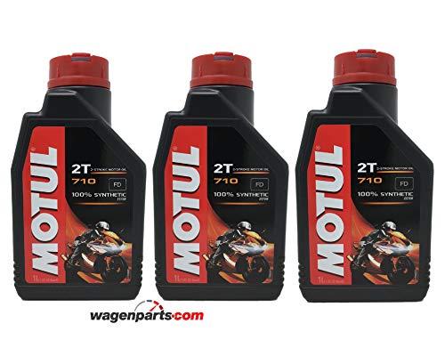 Aceite para mezcla de gasolina de motor motocicleta 710 2T Ester sintético - Pack 3 Litros