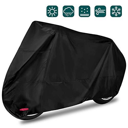 ☀【Protección】Ya sea que llueva o haga viento, nuestra cubierta para lluvia para motocicletas le brindará protección de alta calidad.El excelente diseño no solo resiste el daño causado por el clima, sino que también resiste el daño de los rayos ultravioleta a la motocicleta, y también tiene un buen efecto a prueba de polvo. ☀【Tamaño】El tamaño máximo puede alcanzar 245X105X125cm.Es adecuado para la mayoría de las motocicletas.También se utiliza para bicicletas. ☀【Materiales de alta calidad】Hecho de excelente tela Oxford 420D,no solo puede resistir el daño causado por el clima y los rayos ultravioleta, sino que también previene eficazmente los rasguños. ☀【Orificios de bloqueo y hebilla】La parte delantera de la cubierta de nuestra motocicleta tiene orificios de bloqueo, y la hebilla elástica se puede fijar de manera efectiva. La exquisita cuerda elástica de doble costura es conveniente y fácil de usar, lo que le brinda una experiencia práctica y conveniente. ☀【Fácil de guardar】Nuestra funda para lluvia para motocicleta viene con una bolsa de almacenamiento que se puede plegar en la bolsa cuando no es necesario usarla. ¡No ocupando espacio, esta será una buena opción para ti!