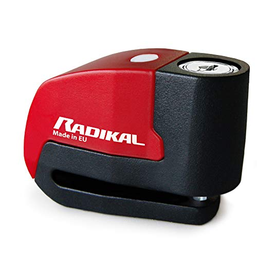 Radikal Rk6 Antirrobo Disco con Alarma, Juventud Unisex, Rojo, 6 mm