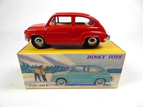 DeAgostini Fiat 600D Red - Dinky Toys NOREV Miniature Ref: 520