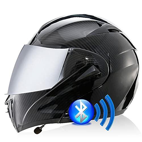 ⭐CASCO PROFESIONAL : Los cascos de motocicleta profesionales cumplen o superan el estándar ECE DOT FMVSS 218, con una apariencia elegante y muchas funciones avanzadas. Necesitas bicicletas de calle, autos de carreras, cruceros, scooters ⭐ USE UN AURICULAR BLUETOOTH: un casco con dos lentes y un auricular Bluetooth se pueden emparejar con el teléfono móvil. Escuche música, responda automáticamente llamadas y otro contenido, sistema estéreo de alta calidad y fácil de instalar, para que pueda cambiar sin problemas entre llamadas y música mientras conduce. ⭐ FORRO DESMONTABLE Y LAVABLE: forro de presión 3D avanzado, suave al tacto, transpirable y cómodo, con efectos antivaho, desodorante y antitranspirante. ⭐AERODINÁMICA: equilibre la entrada de aire frontal, succione aire antes y después de la ventilación por extracción de presión negativa, proporcione ventilación directa, haga que los usuarios se sientan cómodos y secos. ⭐TAMAÑO: Mida cuidadosamente el tamaño de su cabeza antes de comprar para evitar errores de compra. El tamaño recomendado es S = 55-56cm, M = 57-58cm, L = 59-60cm, XL = 61-62cm Si tiene alguna pregunta, no dude en confiar en nosotros.
