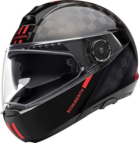 Schuberth C4 Pro Carbon Fusion - Casco modular Probado en túnel de viento Comodidad de un casco abatible combinado con la ligereza de una carcasa exterior de carbono Seguridad al más alto nivel Pantalla antivaho Pinlock120 incluida