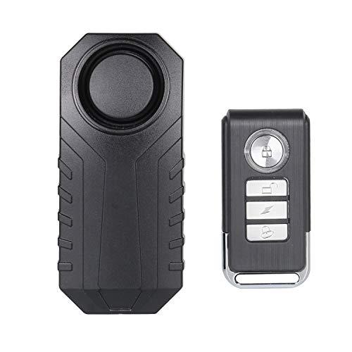 Lancoon Alarma De Bicicleta, Antirrobo para Vehículos De Motocicleta con Control Remoto, 113 Db Super Loud (Paquete De 1)