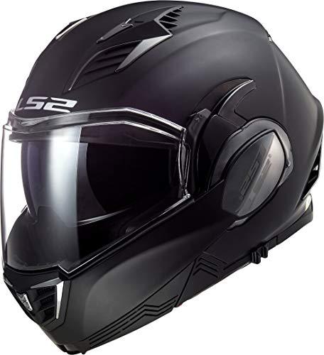 LS2 Valiant II Casco de Moto, Hombre, Negro Mate, XL