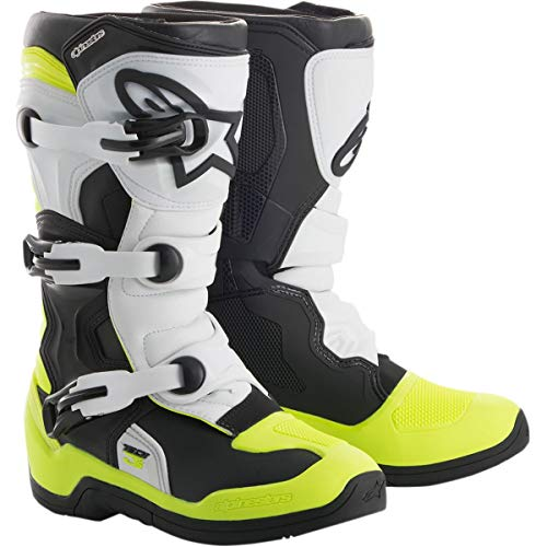 Alpinestars 2018 Youth Tech-3S Boots (6) (BLACK/WHITE/FLO RED)