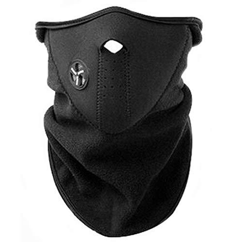AKORD - Mascara con cuello de neopreno para deportes de invierno, color negro, talla unica
