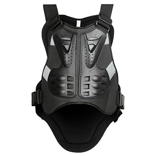 WILDKEN Chaleco Protector Moto Hombre Proteccion para Motocross Motos Ropa Protectora de Cuerpo Armadura para ciclismo, esqui, patinaje (XL, Negro)