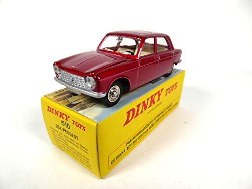 OPO 10 - Atlas Dinky Toys - Peugeot 204 Vermilion Red 510 1:43 (MB421)
