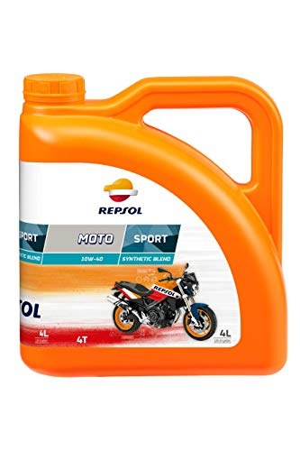 REPSOL Moto Sport 4T 10W-40 Aceite De Motor Para Moto, 4l