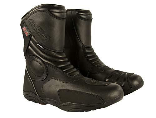 Zerimar Botas Piel Moto | Botas Moto | Botas Motocicleta de Cuero | Botas de Moto Proteccion