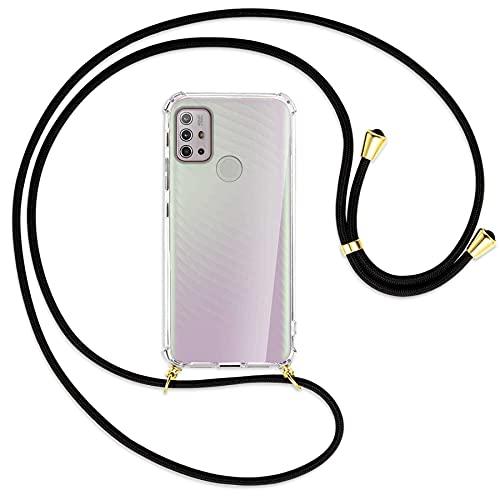 Práctico collar para teléfono móvil que incluye un estuche con refuerzo antichoque perfectamente ajustado para su smartphone Motorola Moto G10 (XT2127, 6.5