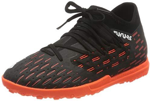 PUMA Future 6.3 Netfit TT JR, Zapatillas de fútbol Unisex niños, Negro Black White/Shocking Orange, 32 EU