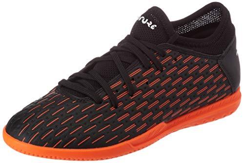 PUMA Future 6.4 IT JR, Zapatillas de fútbol, Negro Black White/Shocking Orange, 35.5 EU