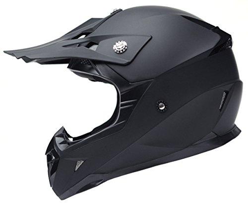 Casco Motocross Eduro ECE Homologado - YEMA YM-915 Casco de Moto Cross Integral para Mujer Hombre Adultos-Negro-L