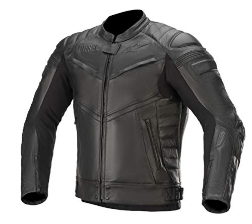 Alpinestars AS-DSL Shiro - Chaqueta de piel para hombre, compatible con Tech-Air, color negro