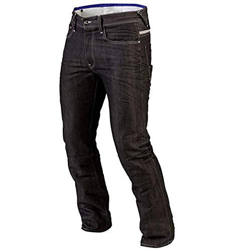 Juicy Trendz Hombre Motocicleta Pantalones Moto Pantalon Mezclilla Jeans con Proteccion Aramida Negro