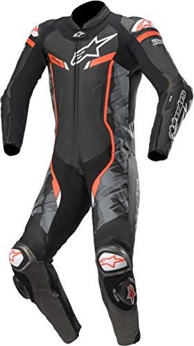 Alpinestars GP Pro V2 - Traje de equitación para hombre, 1 unidad, de piel, compatible con Tech Air, negro/camuflaje/rojo, 48