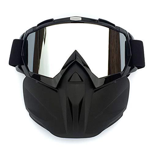 【Dimensión】 20*20CM (7.8*7.8in). Hecho de TPU de alta calidad y materiales de esponja de alta densidad. 【Cómodo】 Gafas de máscara de motocicleta fáciles de ajustar, la correa antideslizante se adapta a cualquier tamaño de cabeza, la espuma respirable e hipoalergénica agrega comodidad exclusiva. 【Protección profesional】 Gafas de protección para motocicletas: protección UV, antiviento a prueba de viento e impermeable, banda ancha cómoda cómoda y gafas desmontables. Se ajusta muy cerca de la cara alrededor de los ojos. 【Marco de esponja】El algodón de alta consistencia tiene una excelente ventilación de extracción para un uso cómodo. Los filtros y orificios bucales transpirables proporcionan una mejor permeabilidad al aire. Usable con tu casco. El casco NO está incluido. 【Aplicación】 Gafas de moto utilizadas para actividades al aire libre, Lente de PC Le ofrece una alta transparencia, el diseño de Arc le proporciona una visión más amplia. La esponja y el TPU flexibles hacen que el marco se ajuste mejor a cualquier forma de rostros.