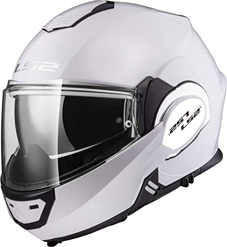 LS2, casco de moto modular VALIANT blanco, L
