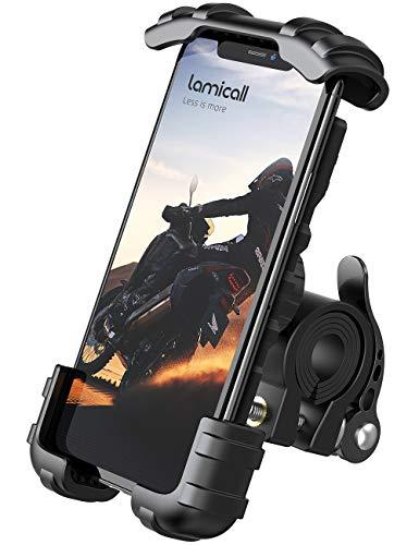 Lamicall Soporte Movil Bicicleta, Soporte Motocicleta - Rotacion 360° Soporte Manillar para iPhone 12 Mini, 12 Pro Max, 11 Pro, XS Max, X, XR, 8, 7, 6S, Samsung S10 S9 S8, Huawei, 4.7-6.8