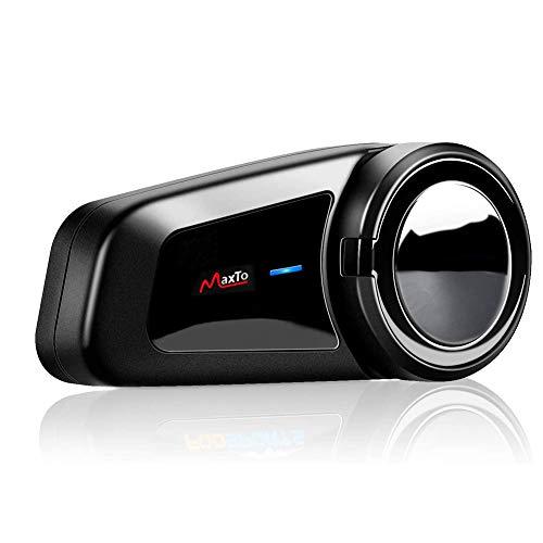Auriculares Bluetooth para motocicleta de grupo 6 Riders: Bluetooth 5.0 integrado que garantiza una alta compatibilidad y estabilidad, es más rápido emparejar los auriculares Bluetooth QSPORTPEAK M2 que otros sistemas de intercomunicación de motocicleta, El intercomunicador para casco de motocicleta soporta un rango de intercomunicación de grupo de hasta 1000 m. Simplemente disfruta de la comunicación en grupo de motocicleta en viaje con tus amigos/familias de hasta 6 (mejor para 6).
