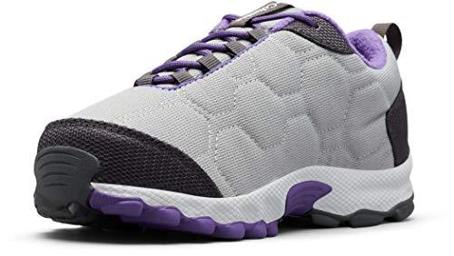 Columbia FIRECAMP SLEDDER 3 Zapatos multideporte impermeables para niños, Gris(Monument, Emperor), 32 EU